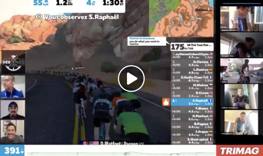 La première course virtuelle en live – 100% triathlètes amateurs & pros !